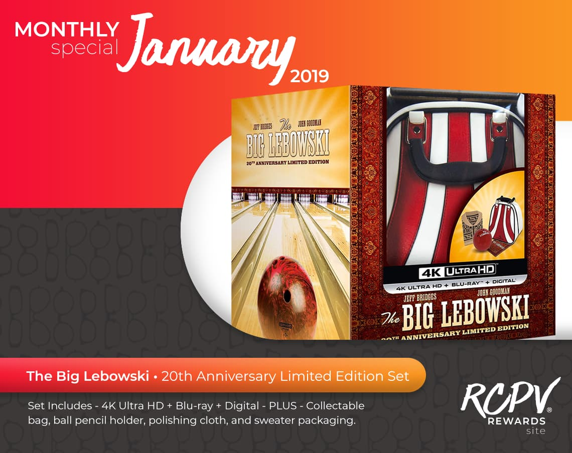 Monthly special January 2019. The Big Lebowski. 20th Anniversary Limited Edition Set.